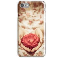 Rose in her hands iPhone Case/Skin