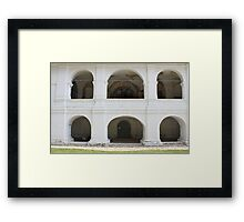 Ancient arcs Framed Print