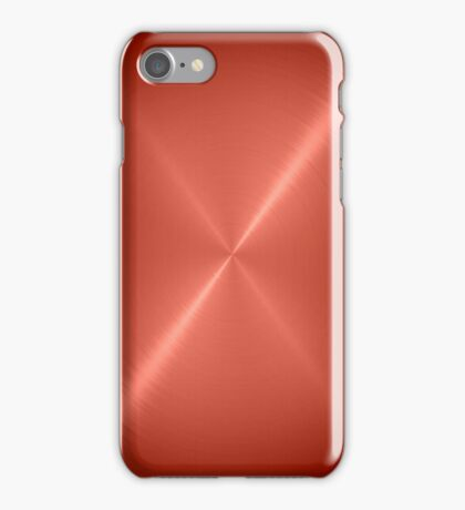 Copper Stainless Shiny Steel Metal iPhone Case/Skin