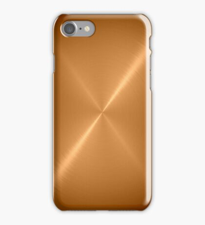 Gold Stainless Shiny Steel Metal iPhone Case/Skin