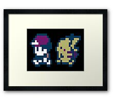 POKEMON design pixel Framed Print