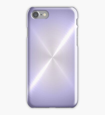 Silver Stainless Shiny Steel Metal iPhone Case/Skin