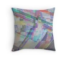 Glitch art 1/6 Throw Pillow