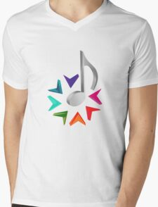MUSIC TIME Mens V-Neck T-Shirt