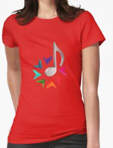 MUSIC TIME Womens Fitted T-Shirt
