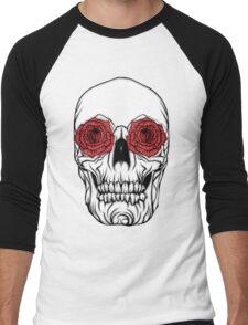 Skull and Roses Men's Baseball ¾ T-Shirt