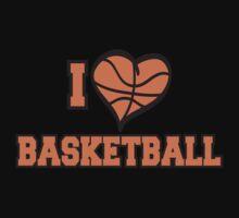 I Love Basketball Kids Clothes