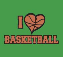 I Love Basketball Kids Tee
