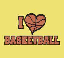 I Love Basketball Kids Tee