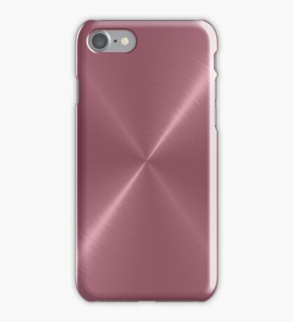 Turkish Rose Stainless Steel Metal Look iPhone Case/Skin