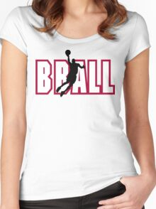 """Basketball """"BBALL"""" Women's Fitted Scoop T-Shirt"""