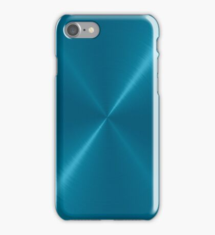 Blue Stainless Shiny Steel Metal iPhone Case/Skin