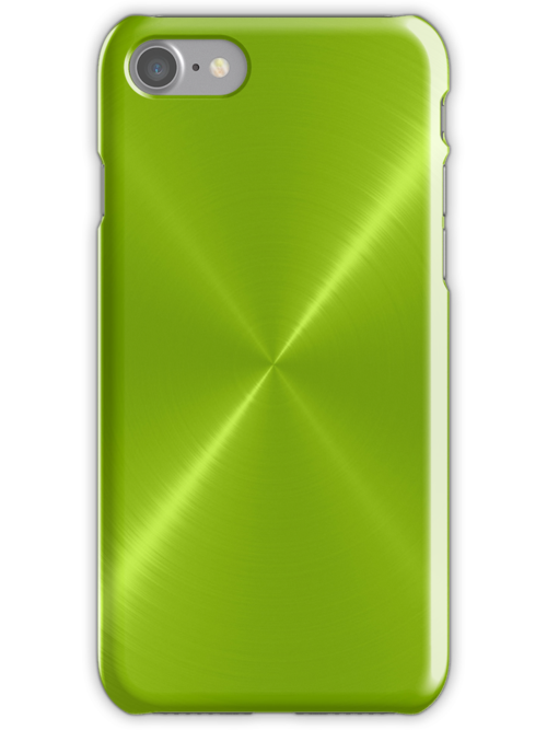 Lime Green Stainless Shiny Steel Metal by Nhan Ngo