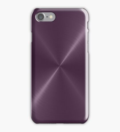 Purple Stainless Shiny Steel Metal iPhone Case/Skin