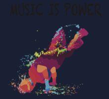 MUSIC IS POWER Baby Tee