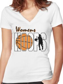 Basketball Women's Hoops Women's Women's Fitted V-Neck T-Shirt