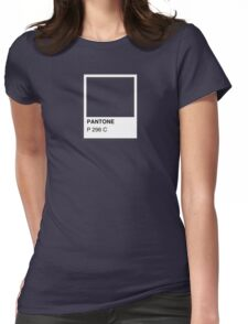 Colours of Red Bubble: Dark Blue Womens Fitted T-Shirt