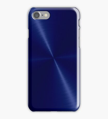 Navy Blue Stainless Shiny Steel Metal iPhone Case/Skin