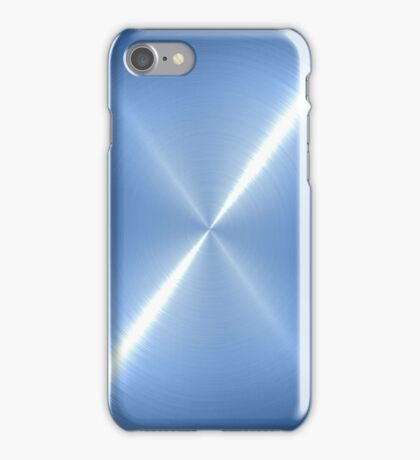 Light Blue Stainless Shiny Steel Metal iPhone Case/Skin