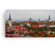 Atop Turreted Tallinn Canvas Print