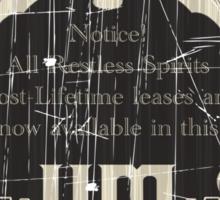 Retro Haunted Mansion Bat Sign t-shirt Design by Topher Adam for Hugs & Bitchslaps Sticker