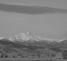 Longs Peak Full Moon by Bo Insogna