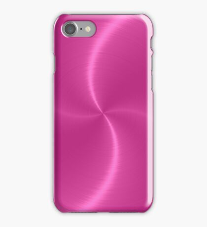 Pink Stainless Shiny Steel Metal Look iPhone Case/Skin