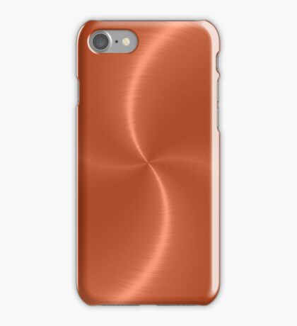 Orange Stainless Shiny Steel Metal Look iPhone Case/Skin