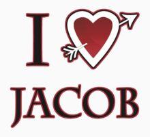 i love jacob heart T-Shirt