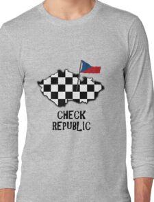 Awful pun - The Check Republic Long Sleeve T-Shirt