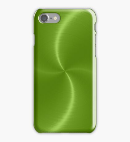 Green Stainless Shiny Steel Metal Look iPhone Case/Skin