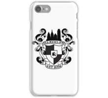 Illadelph Crest Sticker (Black) iPhone Case/Skin