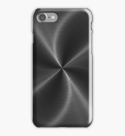 Dark Gray Stainless Shiny Steel Metal Look iPhone Case/Skin
