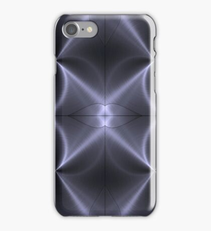 Grey Stainless Shiny Steel Metal Look iPhone Case/Skin