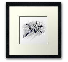X Plane Framed Print