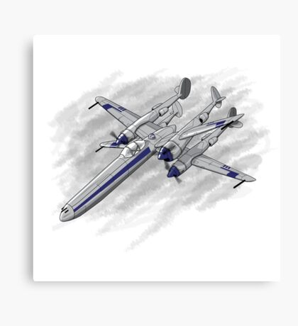 X Plane Canvas Print