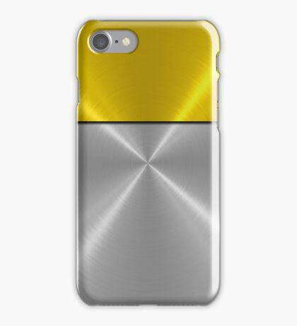 Gold and Silver Stainless Shiny Steel Metal Look iPhone Case/Skin