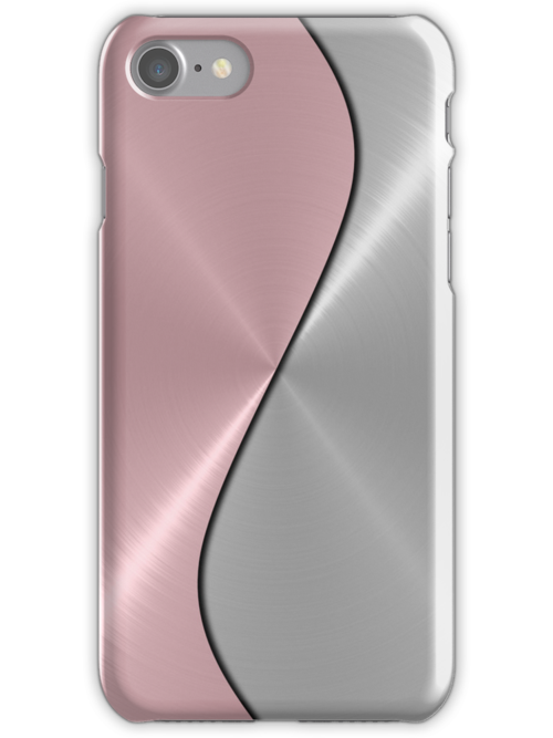 Pink and Silver Stainless Shiny Steel Metal Look by Nhan Ngo