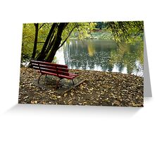 River Bench Greeting Card