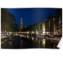 11:05PM Blue Hour - Magical Amsterdam in June Poster