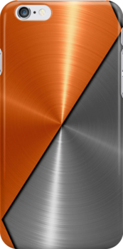 Orange and Silver Stainless Shiny Steel Metal by Nhan Ngo