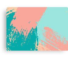 Pastel Colored Abstract Brush Strokes Canvas Print