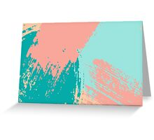 Pastel Colored Abstract Brush Strokes Greeting Card