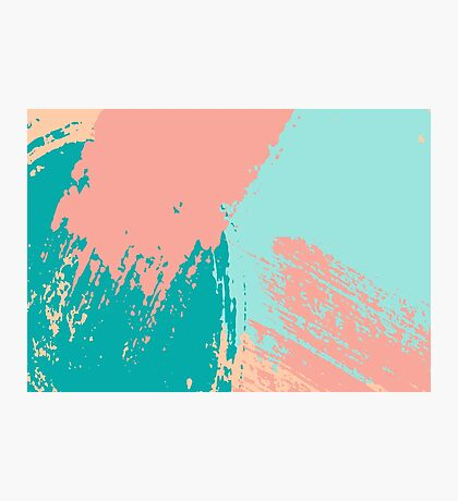 Pastel Colored Abstract Brush Strokes Photographic Print