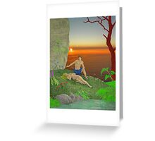Adam and Eve. Greeting Card