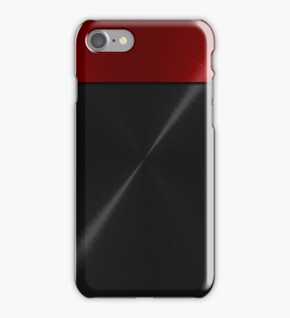 Red and Black Stainless Shiny Steel Metal Look iPhone Case/Skin