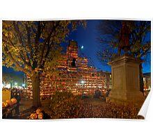 Night Scene at Keene Pumpkin Festival Poster