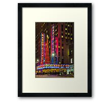 Radio City Music Hall, Study 1 Framed Print