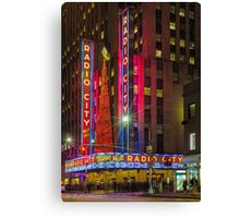 Radio City Music Hall, Study 1 Canvas Print