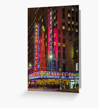 Radio City Music Hall, Study 1 Greeting Card